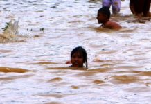 swimming flood